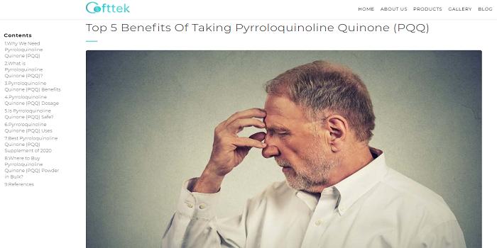 Pyrroloquinoline quinone (PQQ)